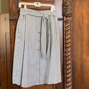 LOFT striped a-line skirt, 10